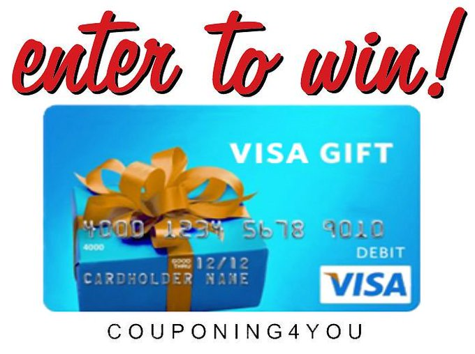 Enter To Win A $50. Visa Gift Card