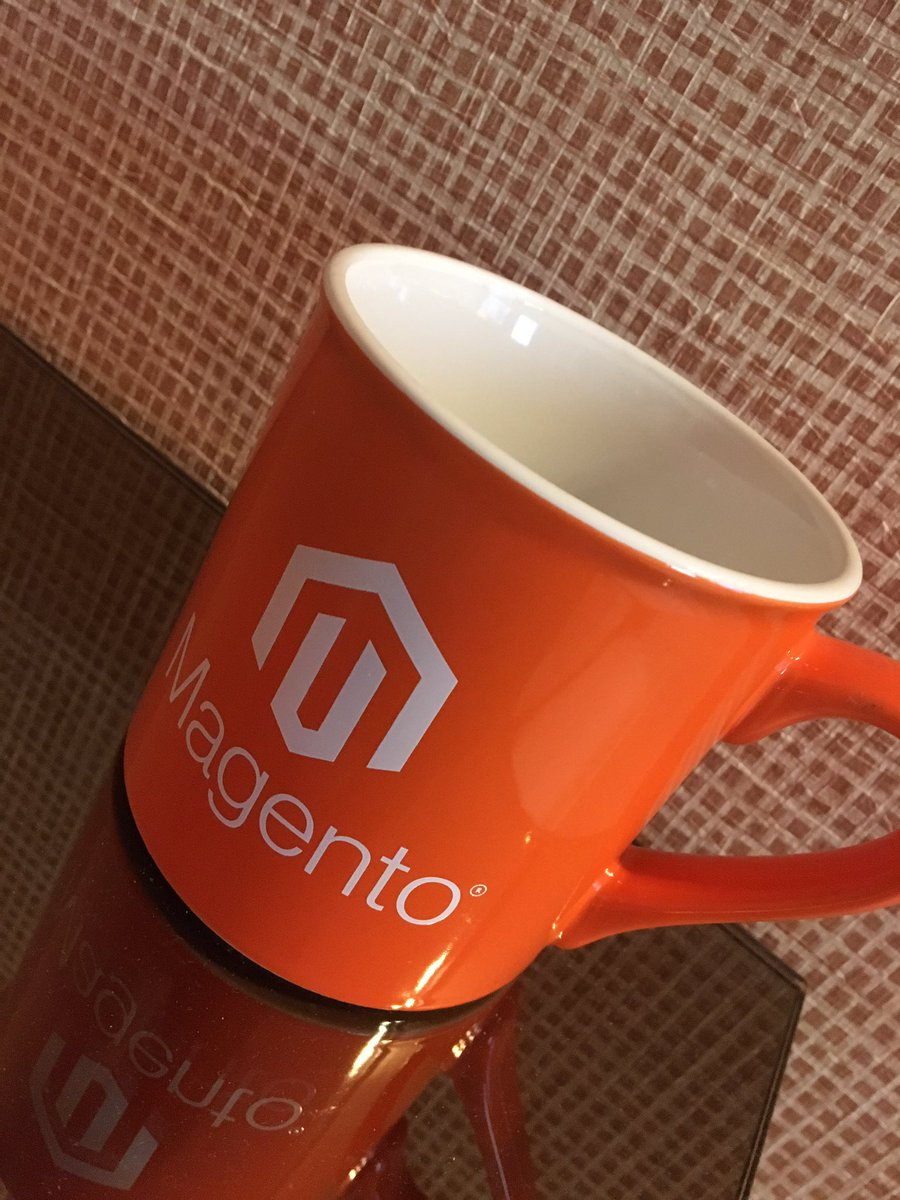 AaronJMcGuire: Finally got my Magento coffee mug @ #MagentoImagine! https://t.co/py9U7MEt9F