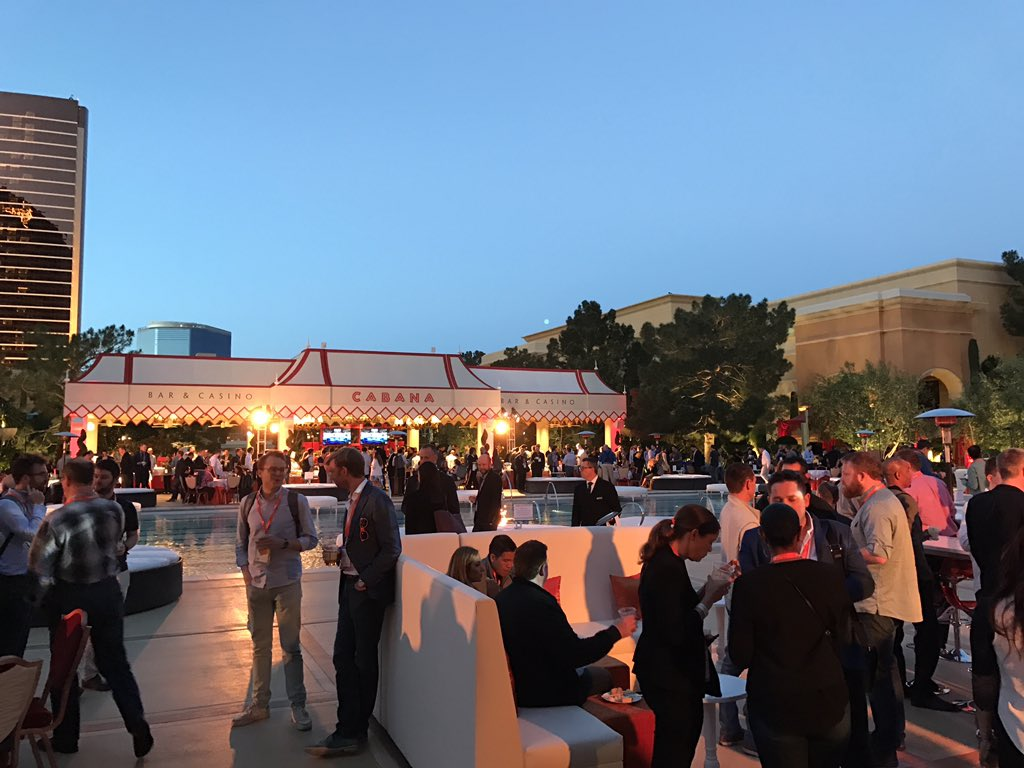 wearejh: The #MagentoImagine opening night is underway with the sunset terrace filling up. https://t.co/HbBAkaDxEa