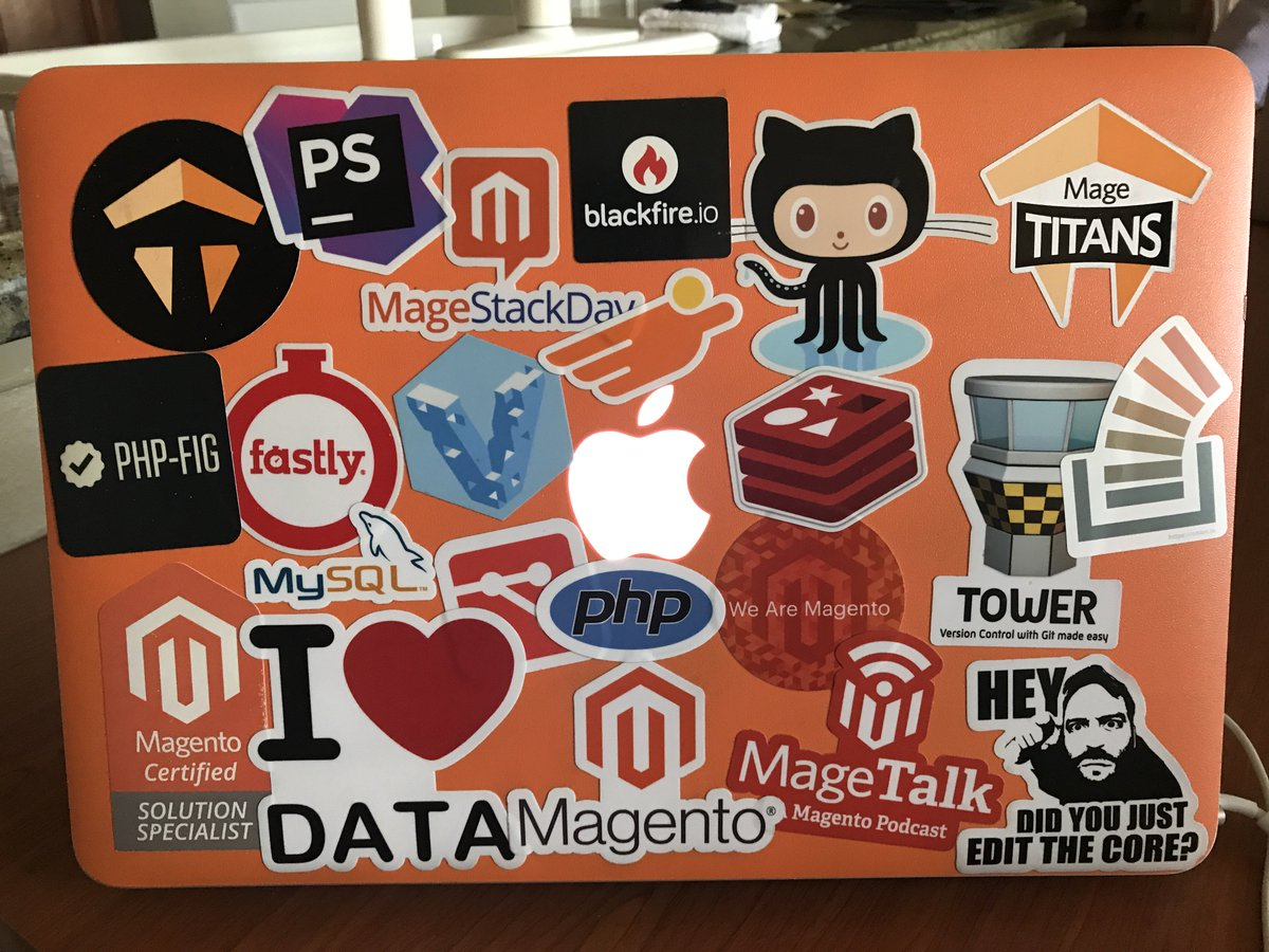 JohnHughes1984: And I definitely need some more stickers to complete my masterpiece #MagentoImagine https://t.co/9RuBR8KtHi https://t.co/mMbLcQmDIK