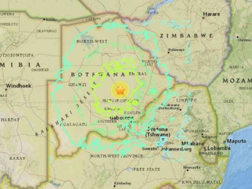 Strong quake strikes remote region of Botswana