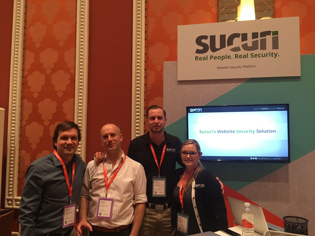 sucurisecurity: Chatting with customers at #MagentoImagine cc @schawelcoles https://t.co/BptLnOCkqM