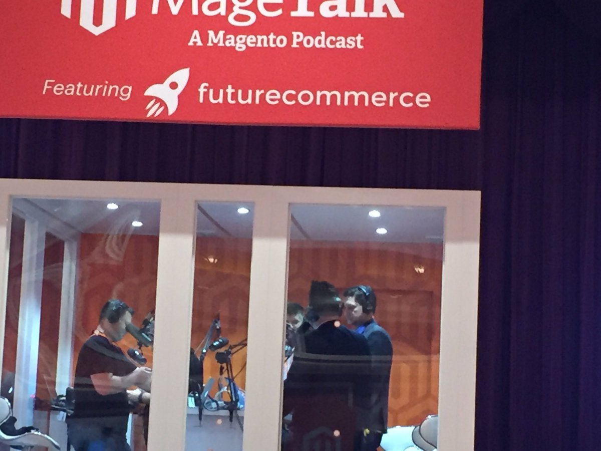 magento_rich: .@mklave1 in the @MageTalk booth. #MagentoImagine. https://t.co/Lxgxgi06vz