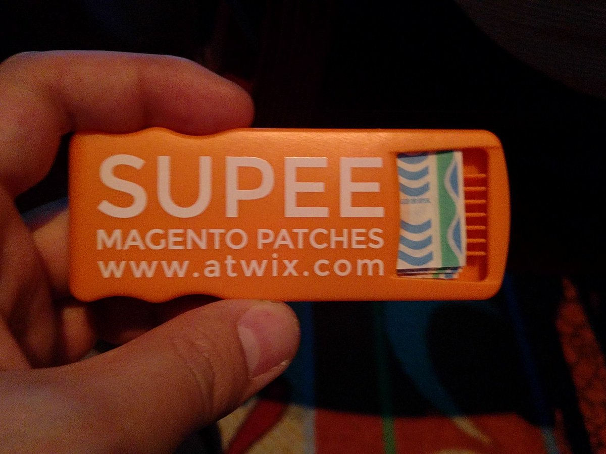 IvanChepurnyi: Now I can patch Magento like a boss #MagentoImagine. Thanks to @atwixcom https://t.co/yzDNe9mpAf