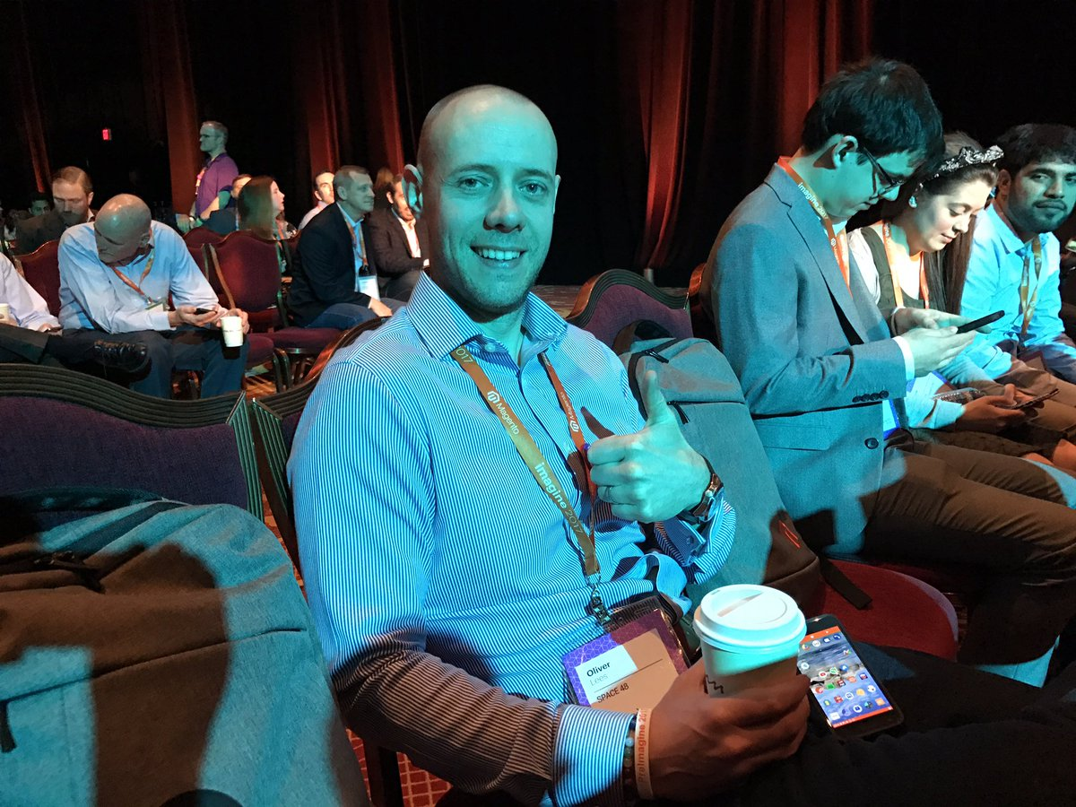 tonegolf71: @Oliver_Lees is ready roll with the first general session at #Magentoimagine let's go let's go! https://t.co/CVhAvP0KIw