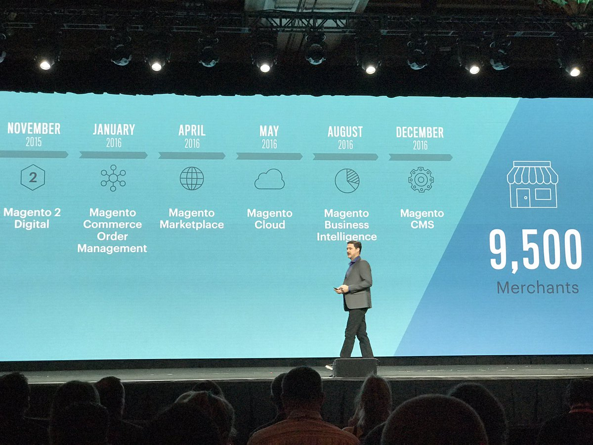 jeo4long: It has been tremendous growth in the past year, new products, growing platform #MagentoImagine https://t.co/223U9SoErs