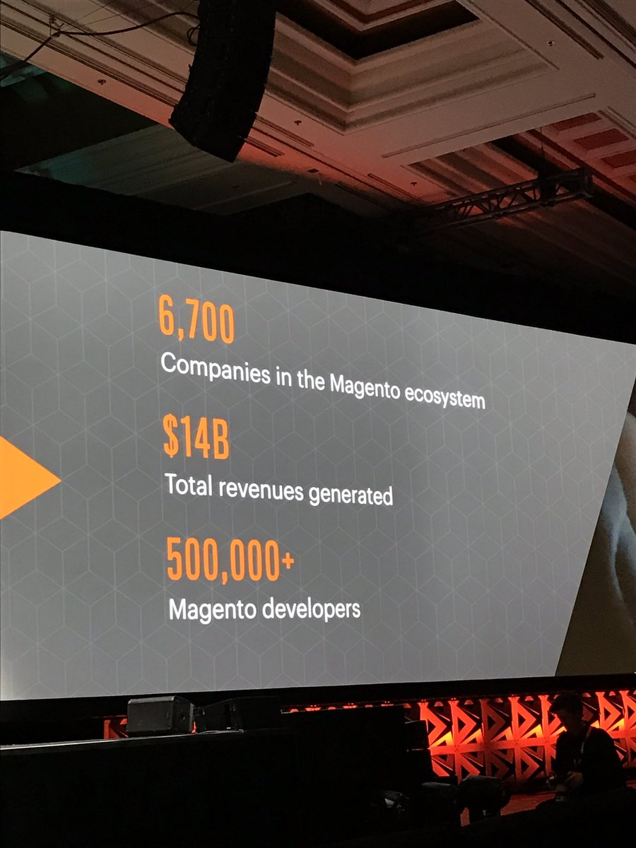 royrubin05: Proud of the growth in the Magento economy #Magentoimagine https://t.co/QjQbMiq4Pp