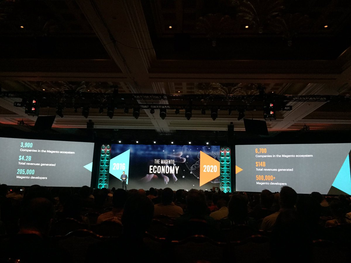 emily_a_wilhoit: Over the next 3yrs, @magento economy will nearly triple says @mklave1 #Magentoimagine https://t.co/xyb0PwVBrT