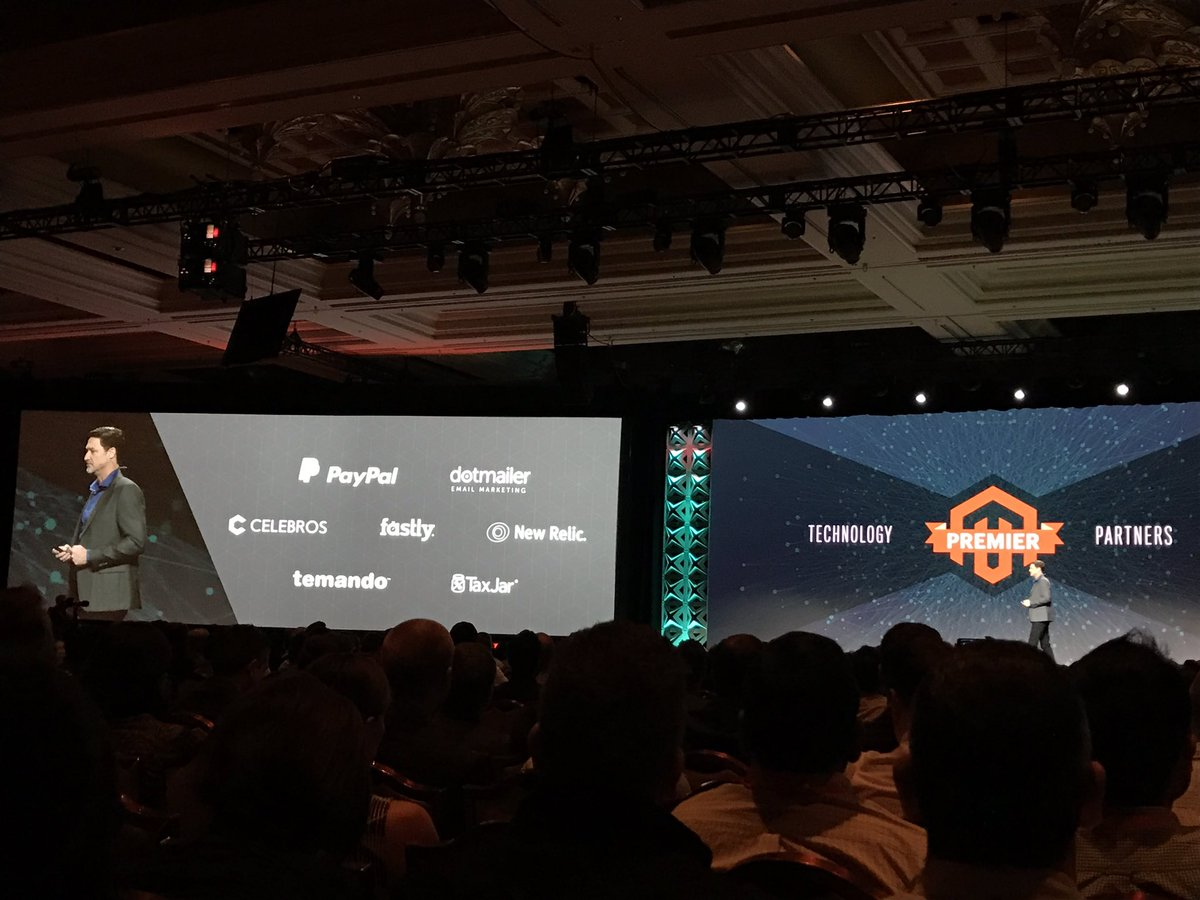 dotmailer: .@mklave1 kicking off #MagentoImagine. Exciting time to be in the @Magento ecosystem https://t.co/Mh2PxeOpSP