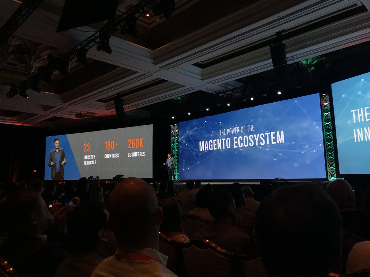 wearejh: The power of the @magento ecosystem. The biggest network of innovation in ecommerce #MagentoImagine https://t.co/2YXAVUMN9A