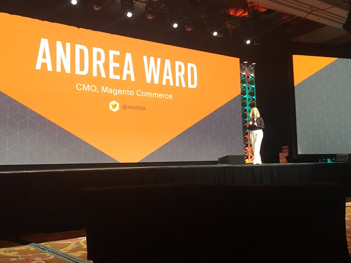 AmandaF_Batista: There she goes! @awatpa takes the stage at #magentoimagine https://t.co/ewTJ2Pe2sw