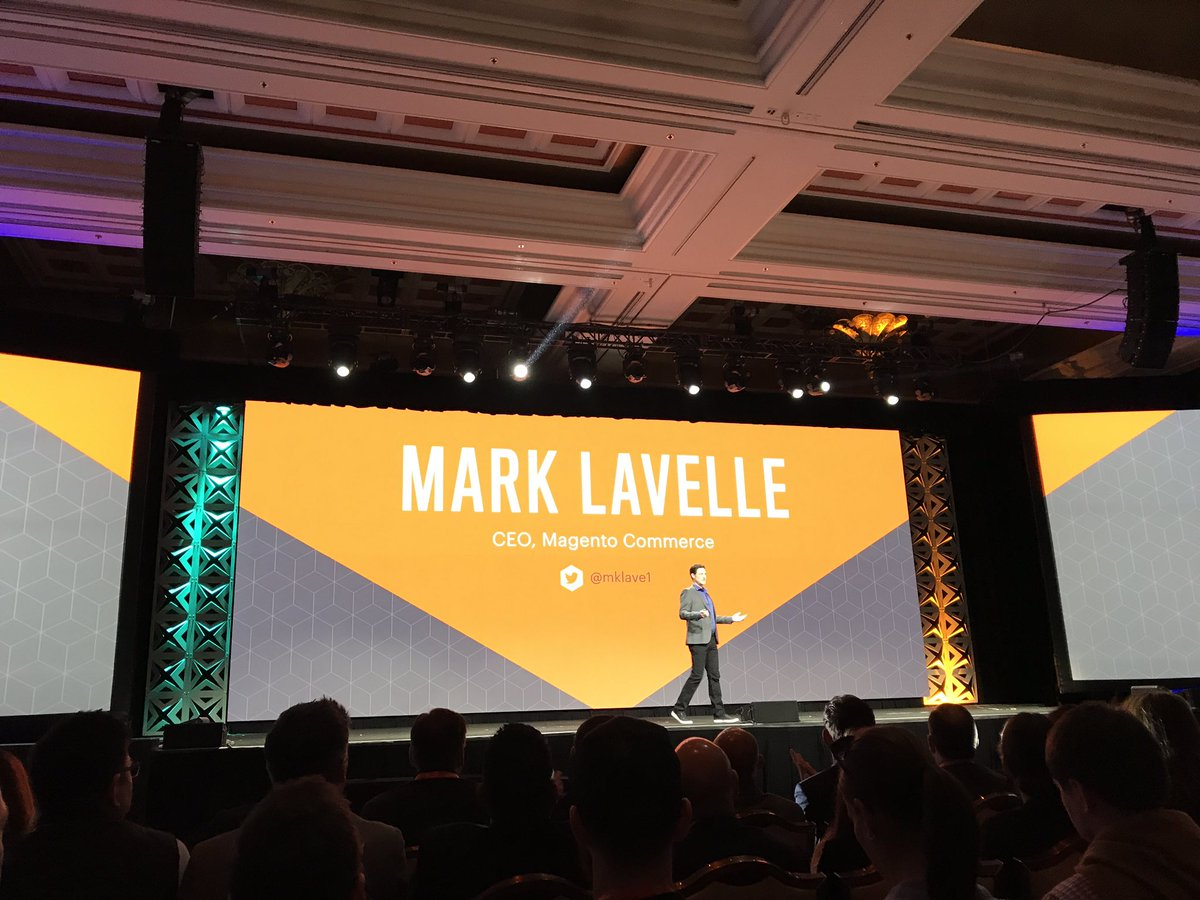 artifakt_io: @mklave1, CEO of Magento Commerce on stage! Let's talk about eCommerce and Magento vision. #MagentoImagine https://t.co/Ka4Zzd7uDE