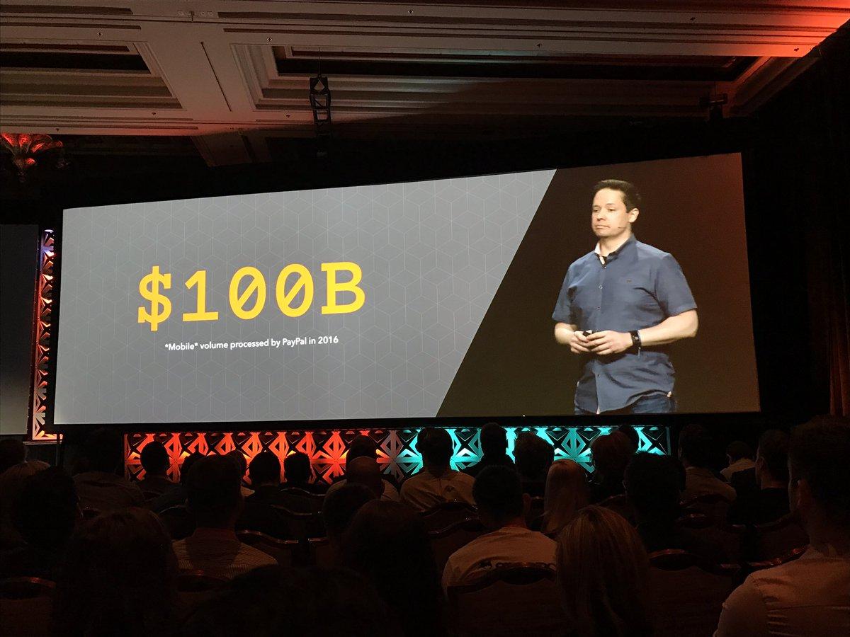 wearejh: 'In 2016 @PayPal processed $100 billion in mobile transactions' @benitez_juan #MagentoImagine https://t.co/IKuMBc6wGa