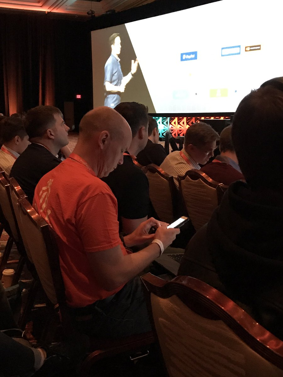 Creatuity: The #MagentoImagine tweet machine @brentwpeterson hard at work documenting this morning's general session! https://t.co/Quhy9MyNgs