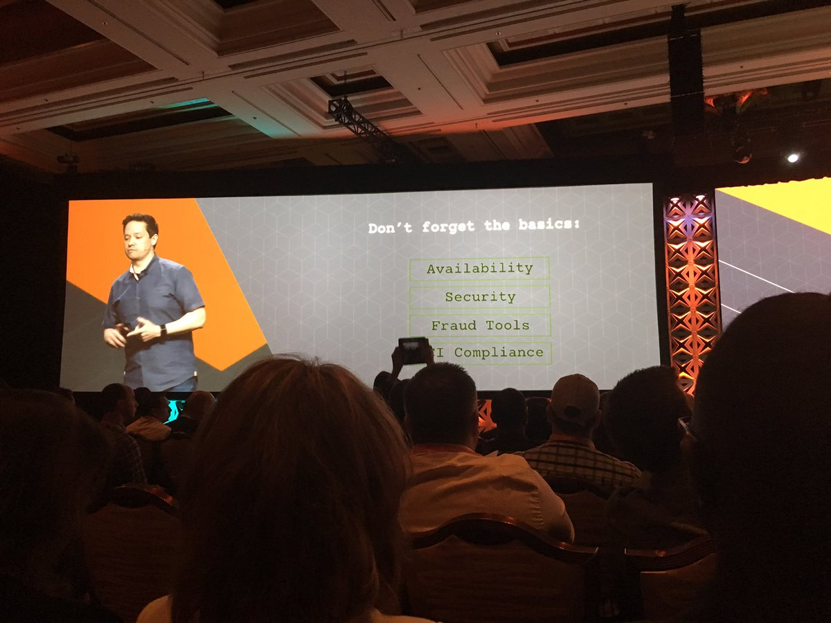 gsautereau: Don't forget the basics: availability security pci compliance fraud protection #MagentoImagine https://t.co/3FJmodgXCE