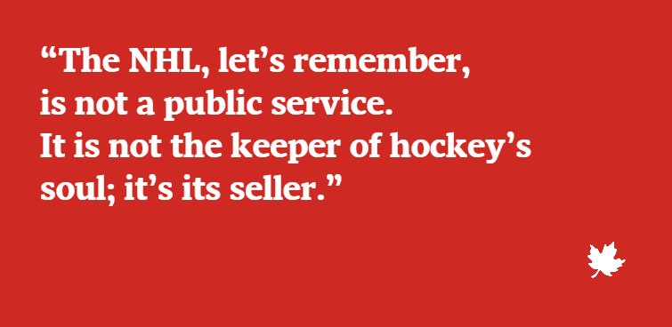 Not a love story: The NHL and Olympics don't need each other @GlobeDebate