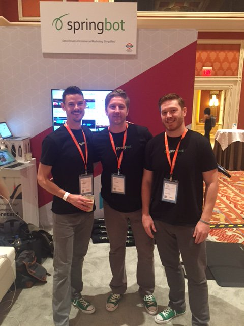 springbot: The Three Amigos of booth 304. #MagentoImagine https://t.co/TQ35jOV0DL