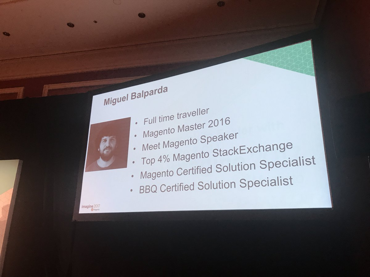 JohnHughes1984: @mbalparda is a BBQ Certified Solution Specialist 😂 #MagentoImagine https://t.co/5xgeCzBkiq