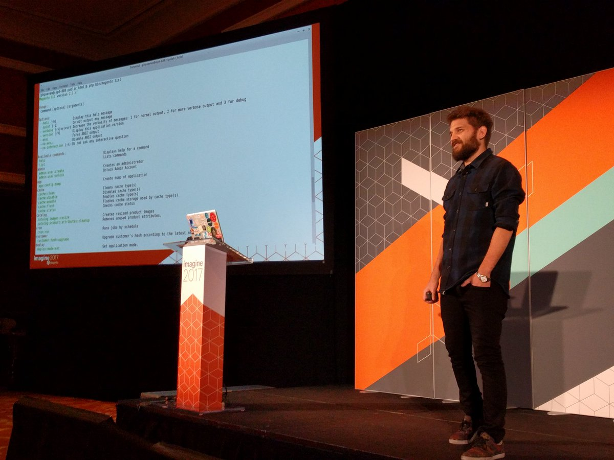 barbanet: Let's talk about the CLI #Magentoimagine https://t.co/V14dUHTY3J