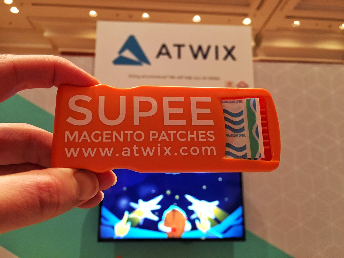 atwixcom: Grab a band-aid! We'll patch you up! nCome stop at our booth #Magentoimagine #imagine2017 https://t.co/ix8ZAhARfh