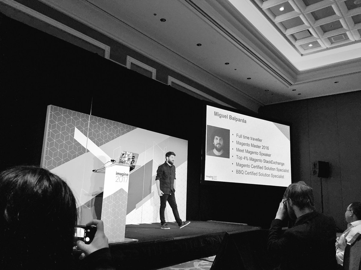 OSrecio: The amazing @mbalparda talking about Magento CLI at #Magentoimagine https://t.co/0ED3n8AXQk