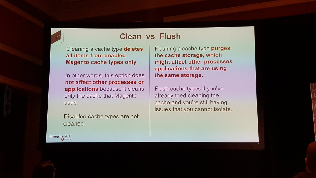 mgeoffray: Difference between cache:clean and cache:flush in #Magento2 CLI #Magentoimagine #realmagento #Magento https://t.co/k96g4DvRcO