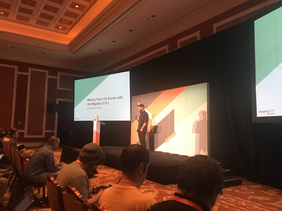 fisheyeweb: @mbalparda enlightening developers on how they can make the most of the Magento 2 CLI tool #MagentoImagine https://t.co/eS6sjfCRze