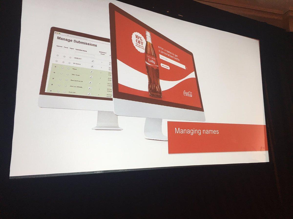 AmandaF_Batista: Managing names via @Magento to support direct ecommerce #shareacoke @toddskid #magentoimagine https://t.co/ruG1ig71uQ