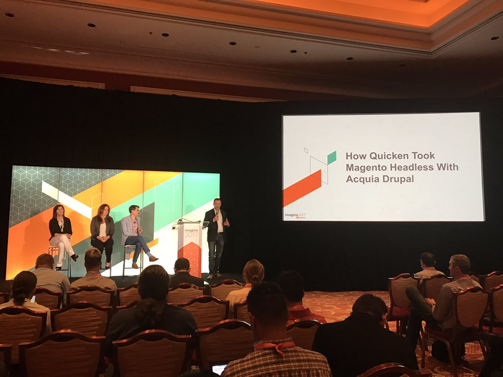 chuckdafonk: Join @quicken @thirdandgrove @acquia now on #magento #drupal #content + #commerce // Mouton room #magentoimagine https://t.co/bi7sIXzbl5