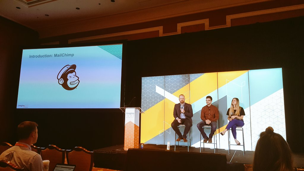 stevedeckert: Hearing about email marketing strategies from @tonysimon of @MailChimp & @gaugeteam #MagentoImagine https://t.co/0cAr0H2FoI