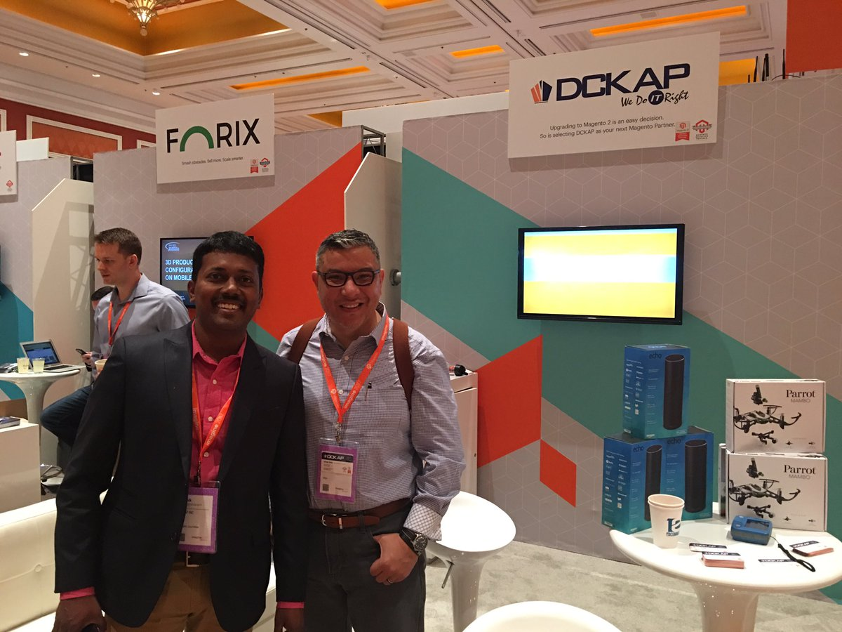 abcb2b: We are talking #magento at #MagentoImagine looking todo a Magento 2 build?  Visit us at booth 313 #dckap https://t.co/lv0P2s9bdP