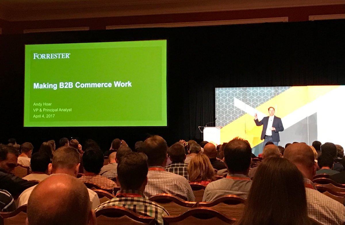 wearejh: After an incredible general session we're now into 'Making B2B Commerce Work' with @andyhoar1 #MagentoImagine https://t.co/JDfRpOVShq