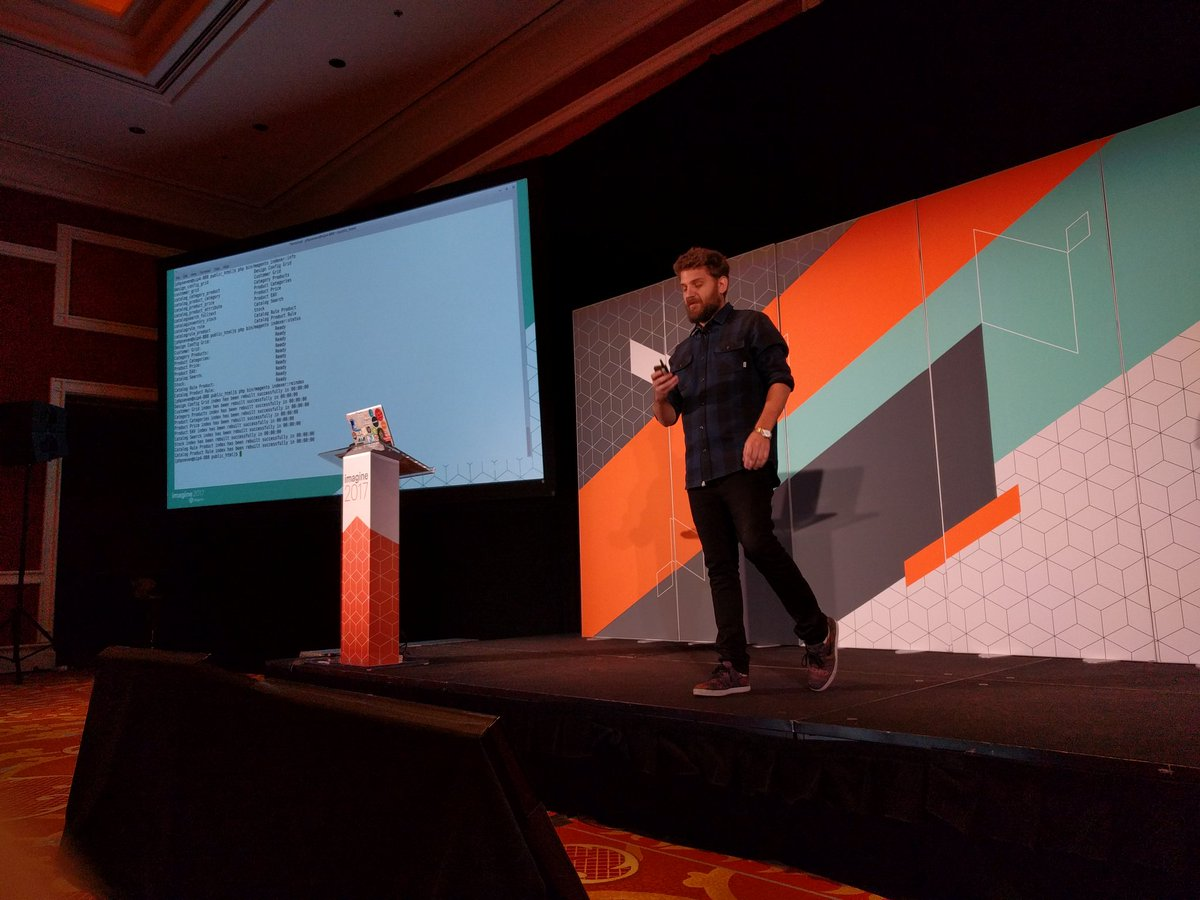 barbanet: If you are not familiar with Magento2 CLI you should be here with @mbalparda from @nexcess #Magentoimagine https://t.co/O0XIc9SDij