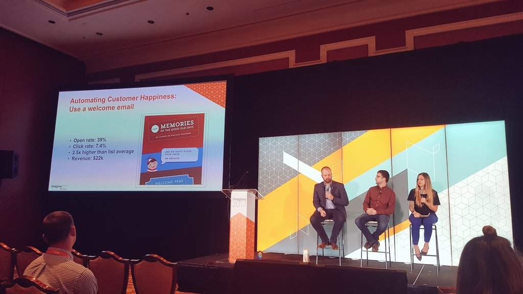 stevedeckert: A welcome email series created $22k in revenue for @oldtimecandy #MagentoImagine https://t.co/Jr9ENS8aE6