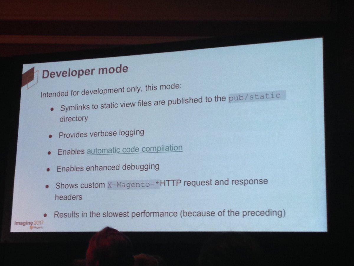 SheroDesigns: #magento2 developer mode tips from @mbalparda #Magentoimagine https://t.co/7HmPMHc2GD