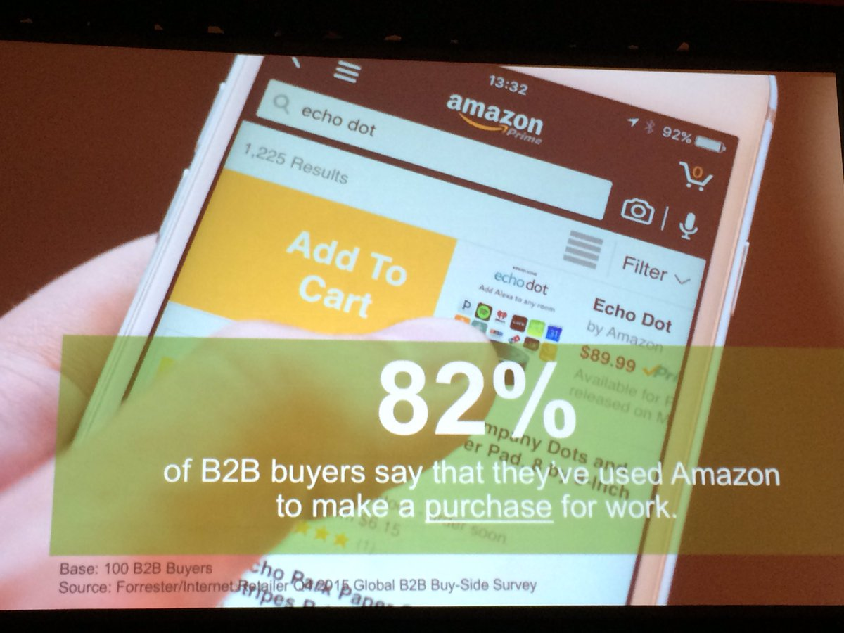 janbrooijmans: The younger gen B2B buyer buys at Amazon. Easy. Step up your game. #MagentoImagine #Forrester https://t.co/r06hfCErDt