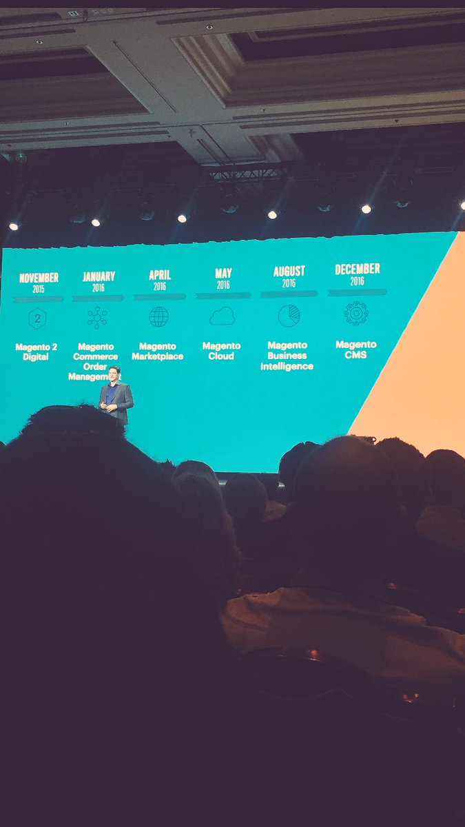 paymentschief: @mklave1 talks about @Magento growth #Magentoimagine https://t.co/5BMwMhULze