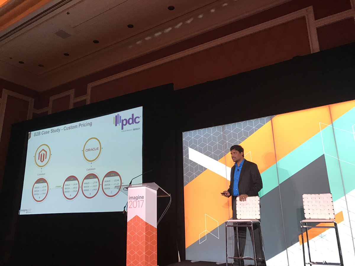 DCKAP: B2B Success Story being presented by @nmohanswe #MagentoImagine Session in progress. Stop by our booth 313 https://t.co/cjm2GJg4ok