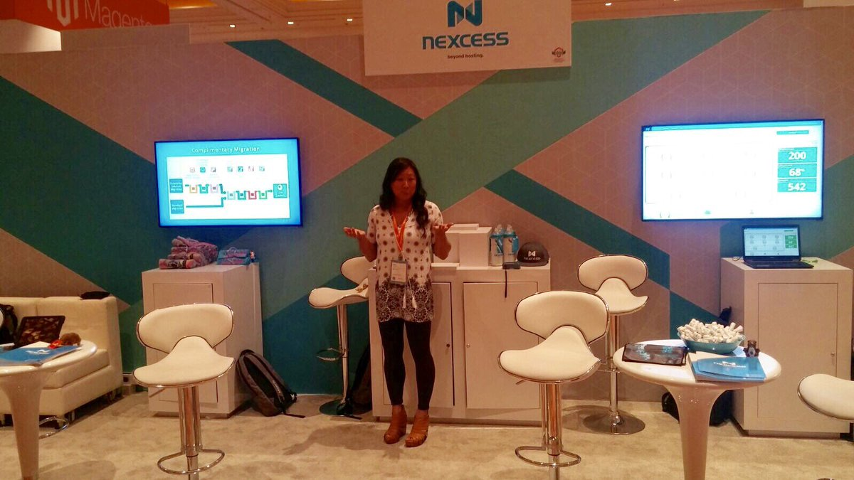 nexcess: Where are the booth visitors?! Oh yeah. They're at @mbalparda's talk 😜 #MagentoImagine https://t.co/Ml6I6SAFgC