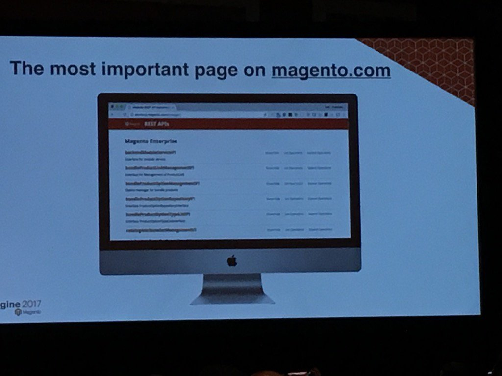tanamarieberry: #Magentoimagine @bobvanluijt just declared this the most important page on https://t.co/NeQ3okCZ9O. @MagentoDevDocs https://t.co/Bkz9MD0yba