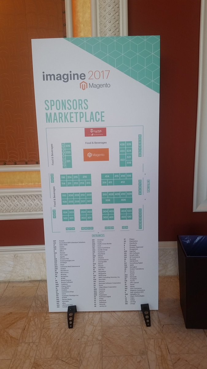 Tryzens: Good to catch up with a number of the sponsors and our friends in the marketplace #MagentoImagine https://t.co/zpyuGhBLY2