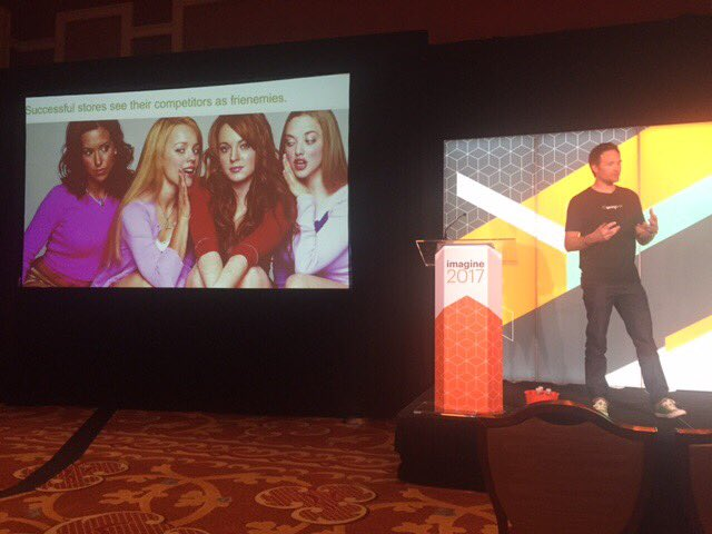springbot: A breakout session isn't complete without a Mean Girls reference. #MagentoImagine https://t.co/hKq2sWXqzt