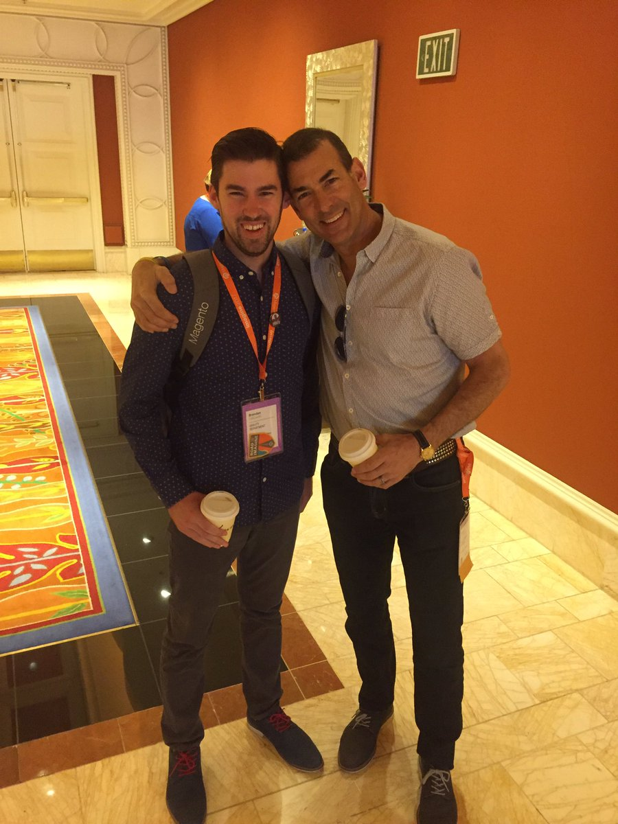 Falkowski: Hanging with @BobSchwartz at #magentoimagine this morning. Always the happiest guy in the room. https://t.co/PJUWY0e48u