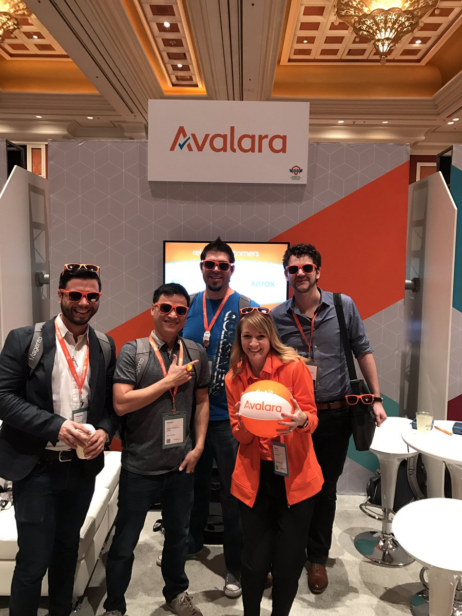 AmieeK_PMM: We are on a roll with happy @avalara customers at #Magentoimagine #whatisyourrisk https://t.co/5GVaK5p9Ts