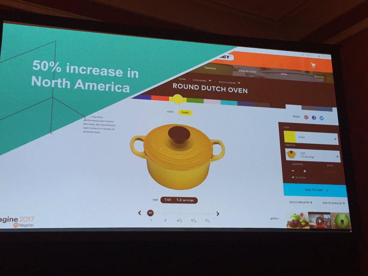 blueacorn: Immediate results after Le Creuset @magento launch: 50% increase YoY! #Magentoimagine https://t.co/srIDzG9iMc