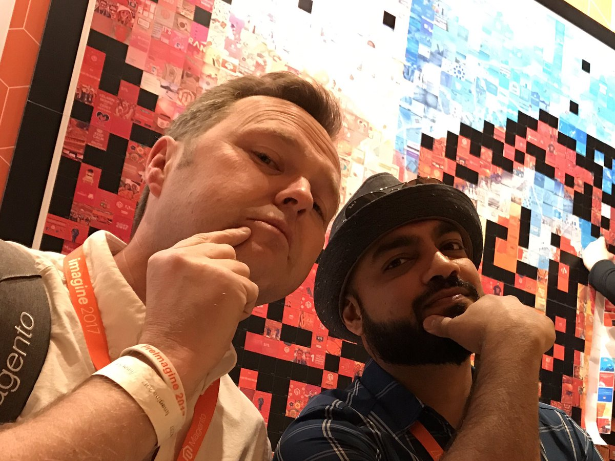 FutureDeryck: Photo with @_Talesh blatantly taken to get on the @Creatuity photo wall #Magentoimagine https://t.co/cnbUO6ntep