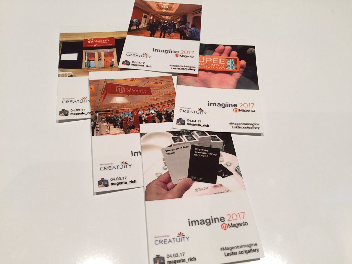 magento_rich: Love these little prints. Thanks @Creatuity! #MagentoImagine https://t.co/NrRVjZhzKy