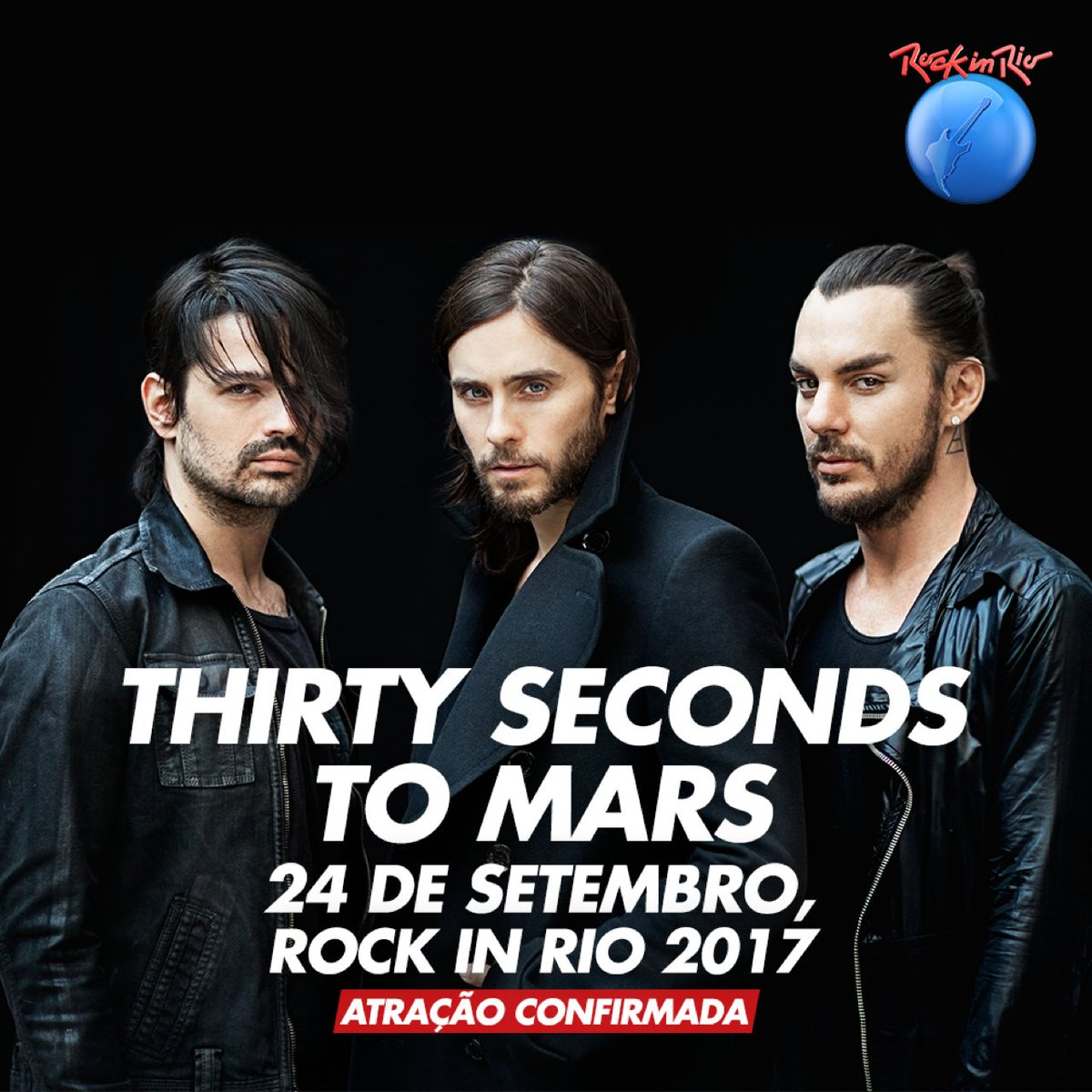 .@30SECONDSTOMARS ESTÁ CHEGANDO / 24 DE SETEMBRO / https://t.co/b9PJmPcYB6. #RockInRio2017 #MarsIsComing https://t.co/RAhSxOtVvF