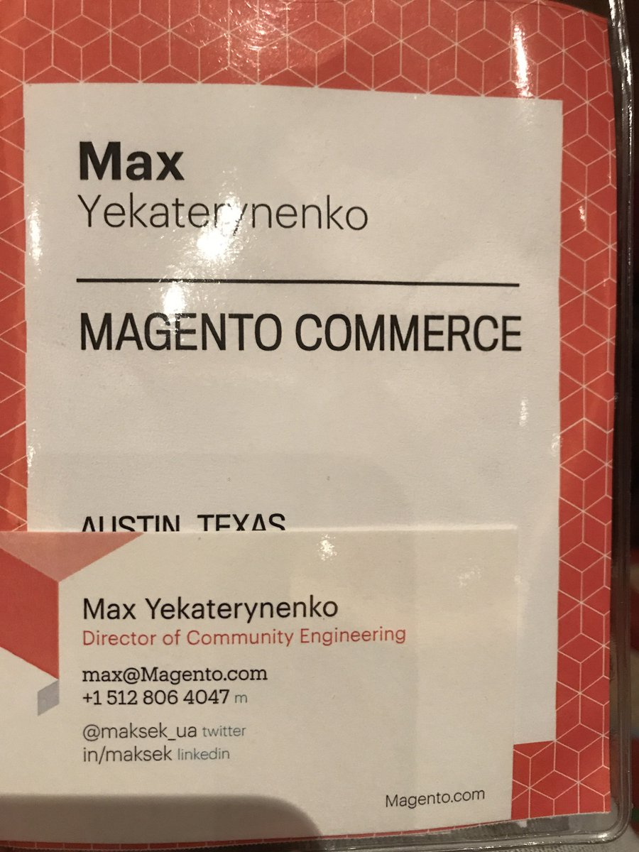 maksek_ua: #MagentoImagine  Find me if you are interesting in contribution to #Magento 2 https://t.co/olGeHw7jCU