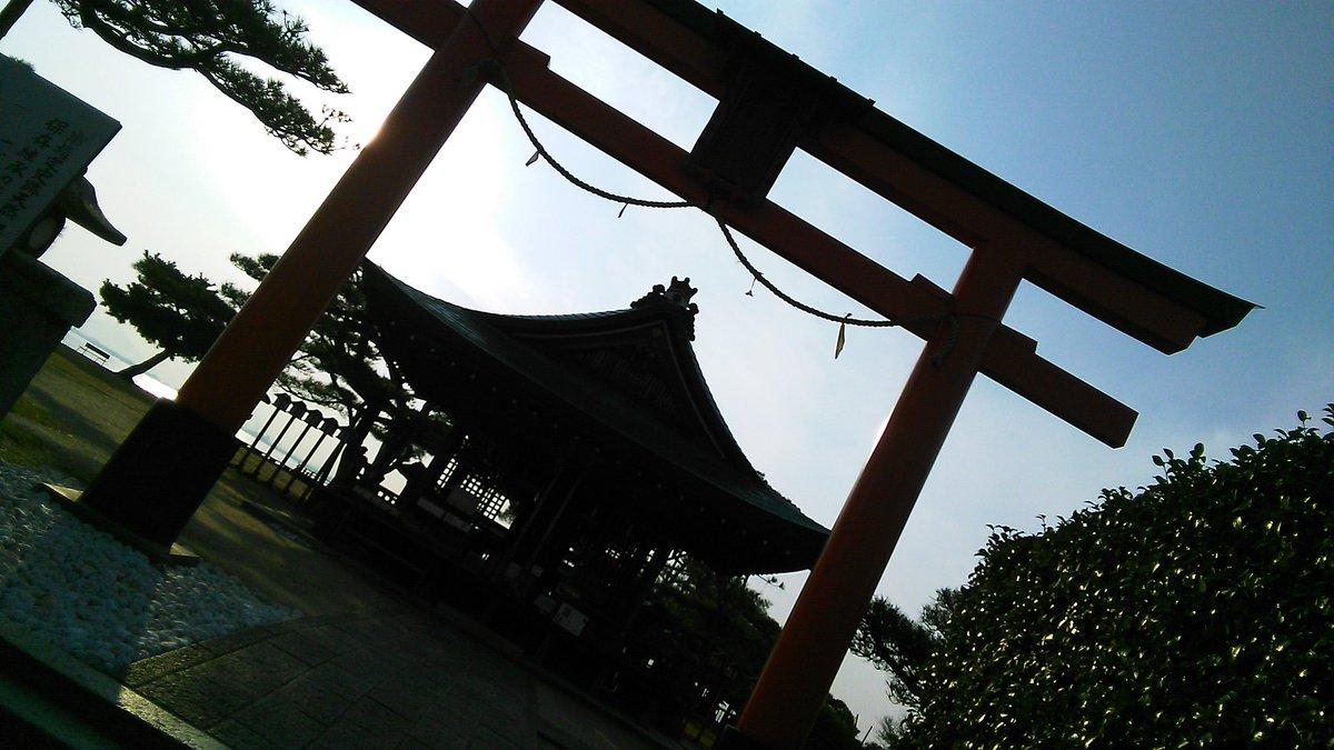 唐崎神社Now⤴ここが曇天に笑うのモデル神社!!!!!白子さんんんんんん!!